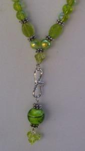 light emerald green beaded drop