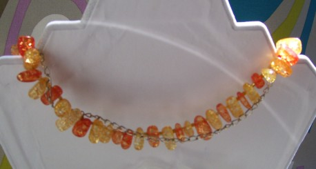 carnelian strand, closeup, back view