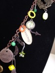 discover, numbers, word token, beads eclectic necklace