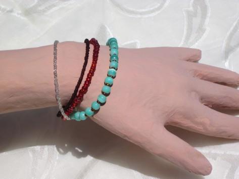 4 strand beaded bracelet