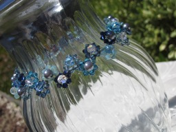 swarovski crystal pearls choker necklace daisy weave