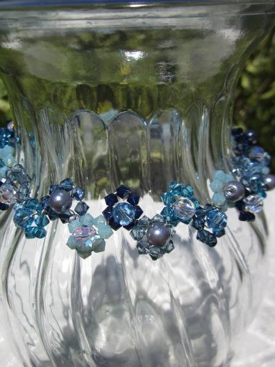 Swarovski crystal choker necklace daisy weave