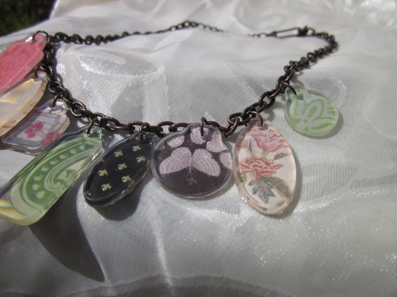 Scrapbook tags necklace