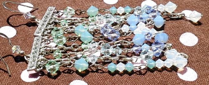 swarovski blue green earrings  4