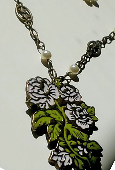 closeup flower charm