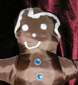 gingerbread boy holiday pillow