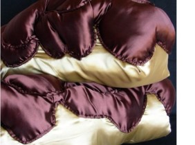 Chocolate eclair accent pillows, holiday decorations
