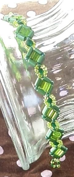 Green squares bracelet
