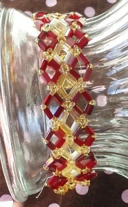 red and gold diamond bracelet