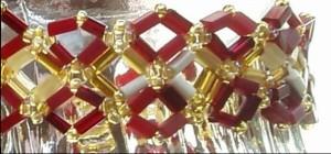 red and gold diamond bracelet