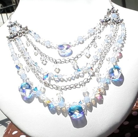 swarovski princess necklace  2