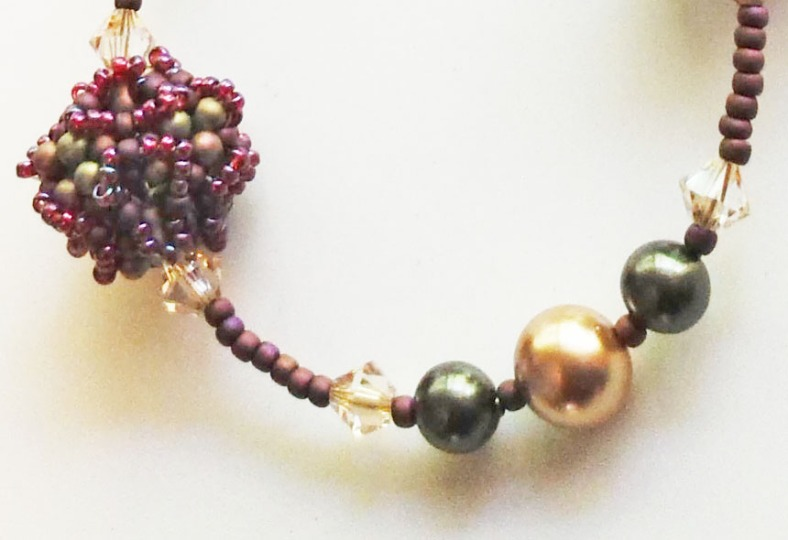 swarovski pearl beaded necklace