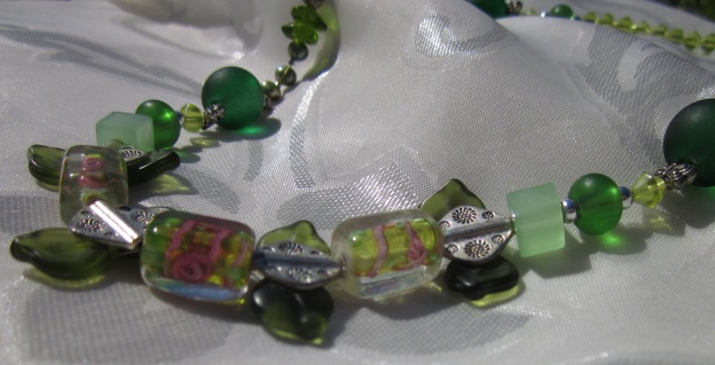 peridot and emerald necklace