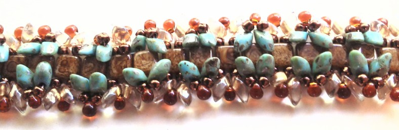 brown and turquoise bracelet