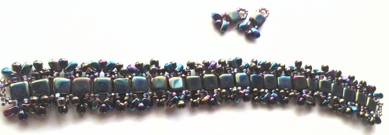 black and purple bracelet