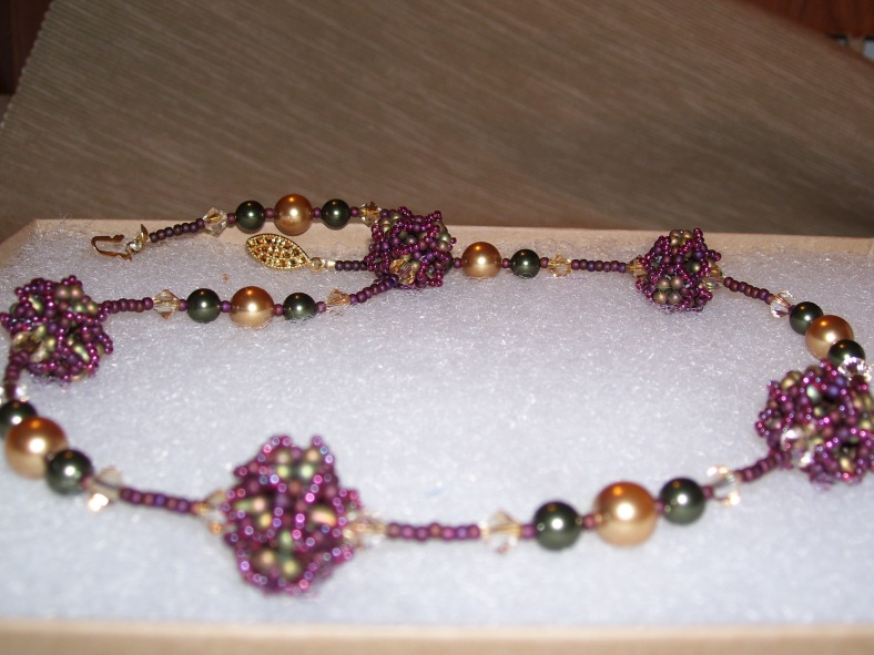 swaroski pearl and crystal necklace