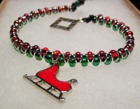 red sleigh bracelet