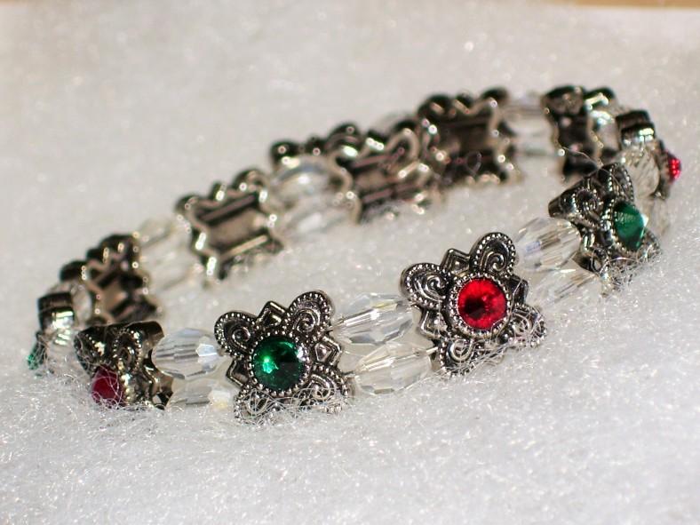swarovski red and green bracelet
