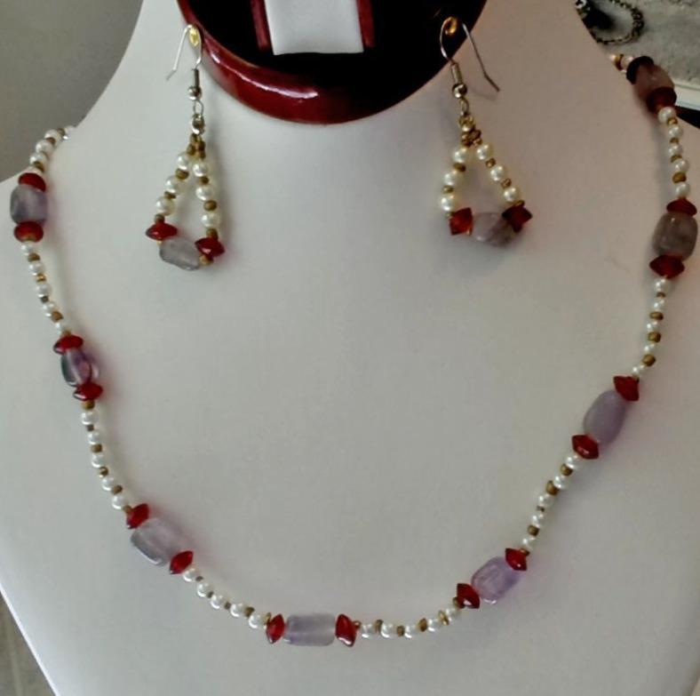 pearl amethyst necklace